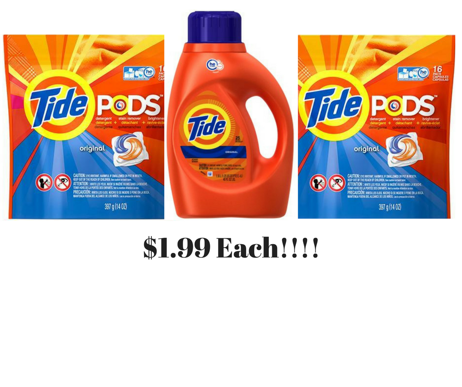 3 Tide Products for $1.99 each at Walgreens!!!