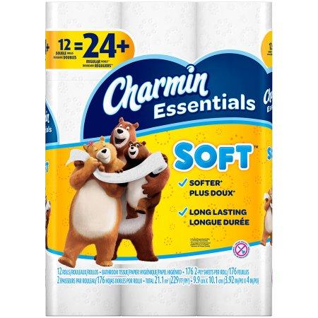 Charmin Bath Tissue, 12 giant rolls for $3.90 at Walgreens!