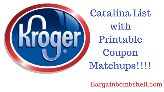 Updated 5/16/18 Kroger and Kroger Affiliate Catalina Deals with printable