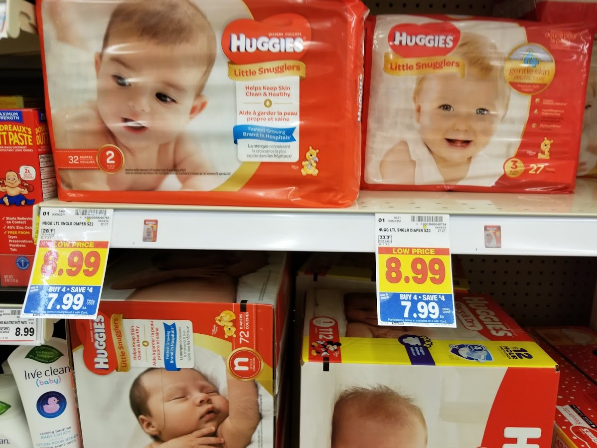 Huggies Diapers for $4.74 at King Soopers with printable coupon and Buy 4 Save $4 Event!