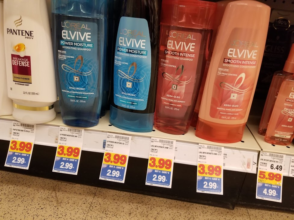 L'Oreal Elvive for $.99 at King Soopers with printable coupon and B4S4 sale!