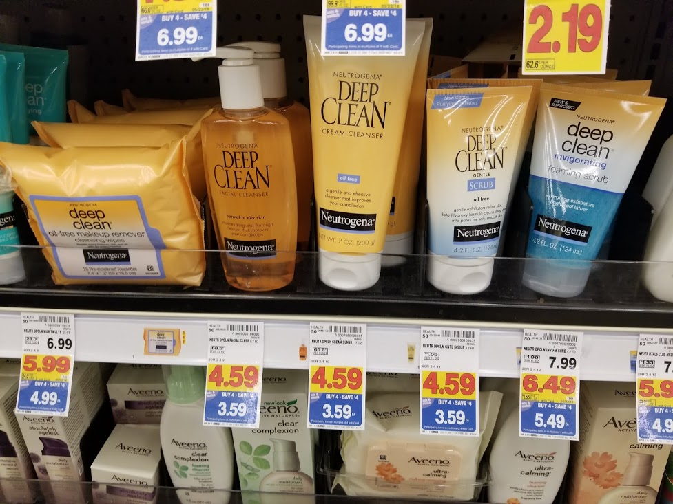 Neutrogena Deep Clean Cleanser $1.59 at King Soopers during Buy 4 Save $4 Sale