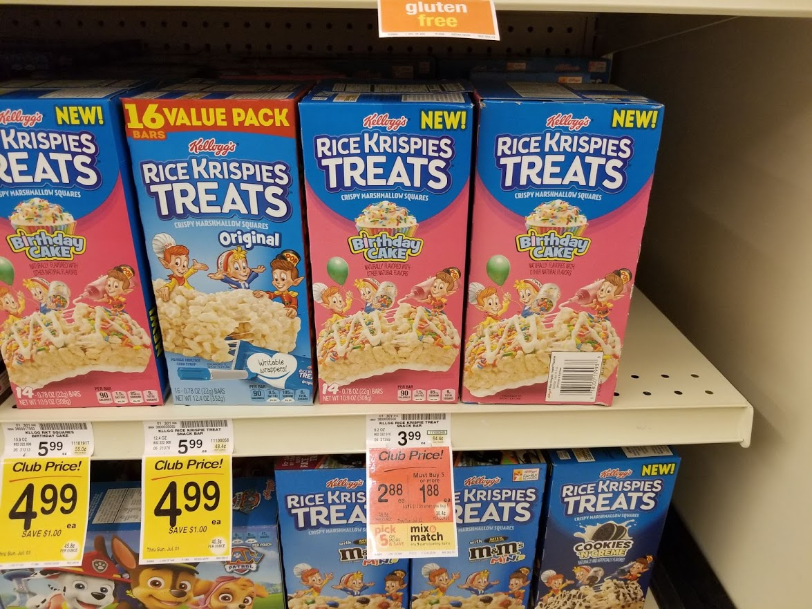 Rice Krispies Treat Bars for $0.88 at Safeway!! Printable Coupon Deal!