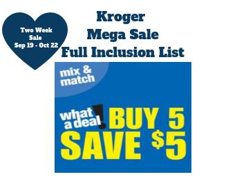 King Soopers and Kroger Affiliates Buy 5 Save 5 MegaSale Database