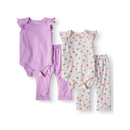 Miniville Flutter Sleeve Body Suits and Jogger Pants Baby Girls for $5.00 (Reg.$11.97)! ONLINE DEAL!!