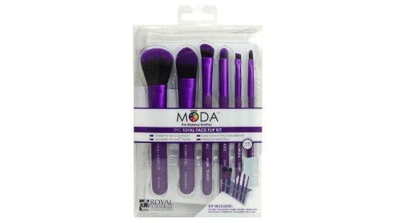 MODA Pro Makeup Brushes Total Face Flip Kit 7 PC for $8.73 (Reg. $19.99) Online Deal!