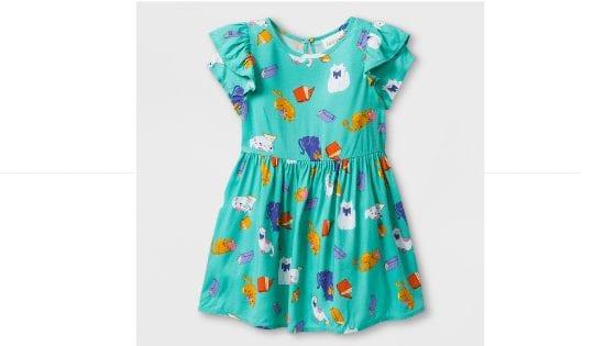 Adorable Toddler Girl's Short Sleeve Cat A-Line Dress on Clearance for $6.74 (Reg. $14.99)! Online Deal!