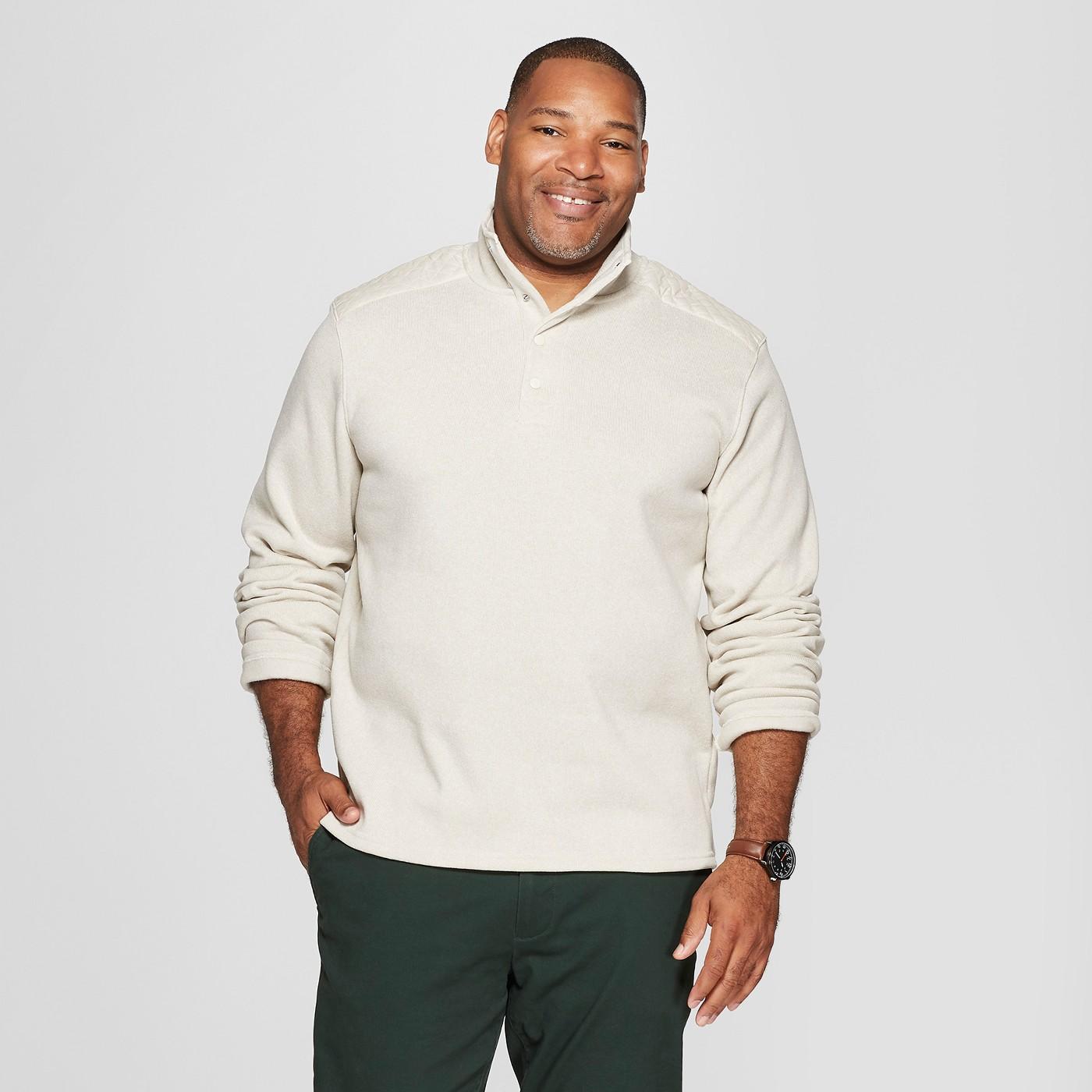Men's Big & Tall Sweater Fleece Quarter Snap on Clearance for $16.49 (Reg. $32.99)!