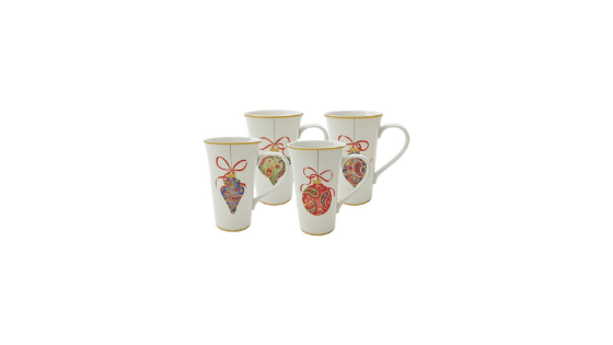 CUTE!! Paisley Ornaments Latte Mugs, 4 ct for $7.50 (Reg. $29.99)!!