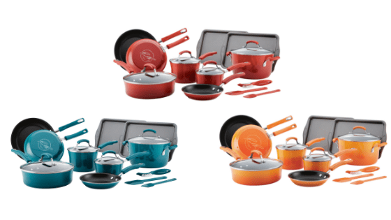 Rollback To A Colorful Kitchen!! Rachael Ray's 16 Piece Cookware Set for $65 at Walmart!!
