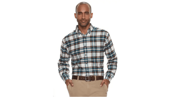Men's Croft & Barrow Classic-Fit Patterned Flannel Down on Clearance for $7.20 (Reg. $36.00!!)