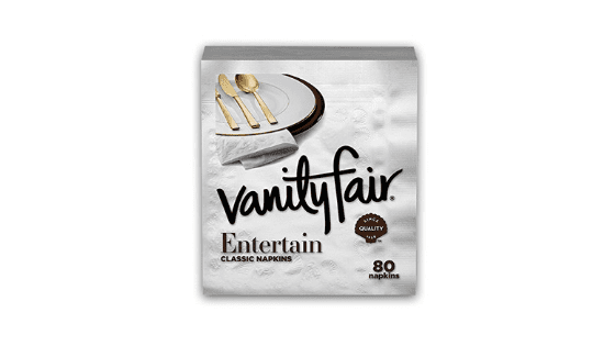 Vanity Fair Dinner Napkins, 80 ct for $3.71 on Amazon!
