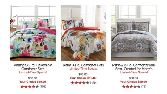 3-Piece Comforter Sets for Only $20 at Macy's EVEN THE KINGS!