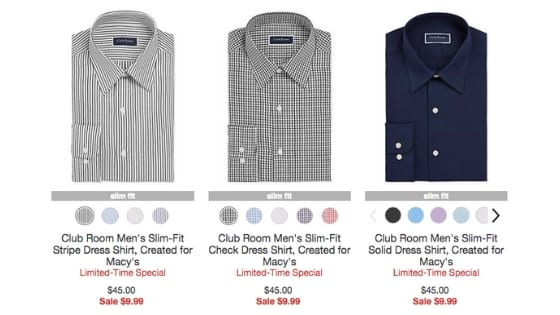 78% Off Men's Dress Shirts – Only $9.99 at Macy's!!!