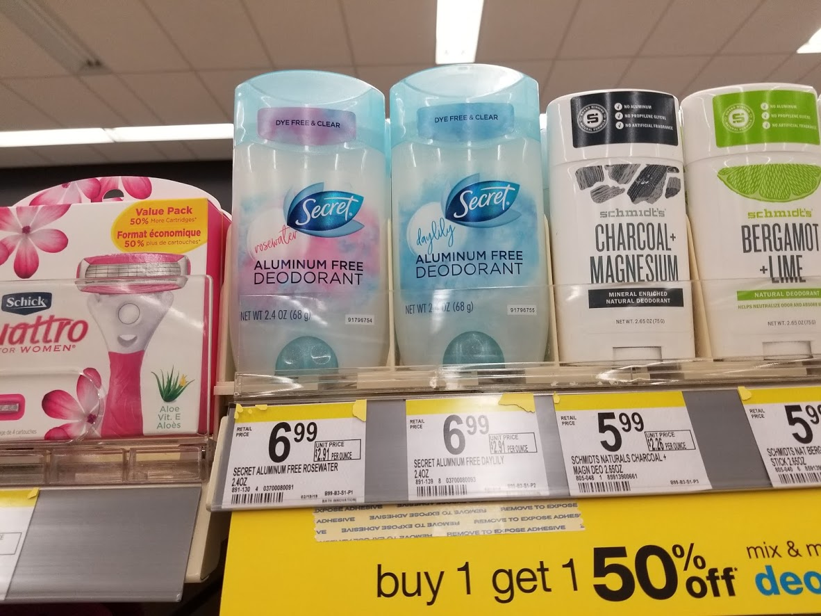 Secret Aluminum Free Deodorant for $0.75 at Walgreens (Reg. $6.99)! Digital Deal!