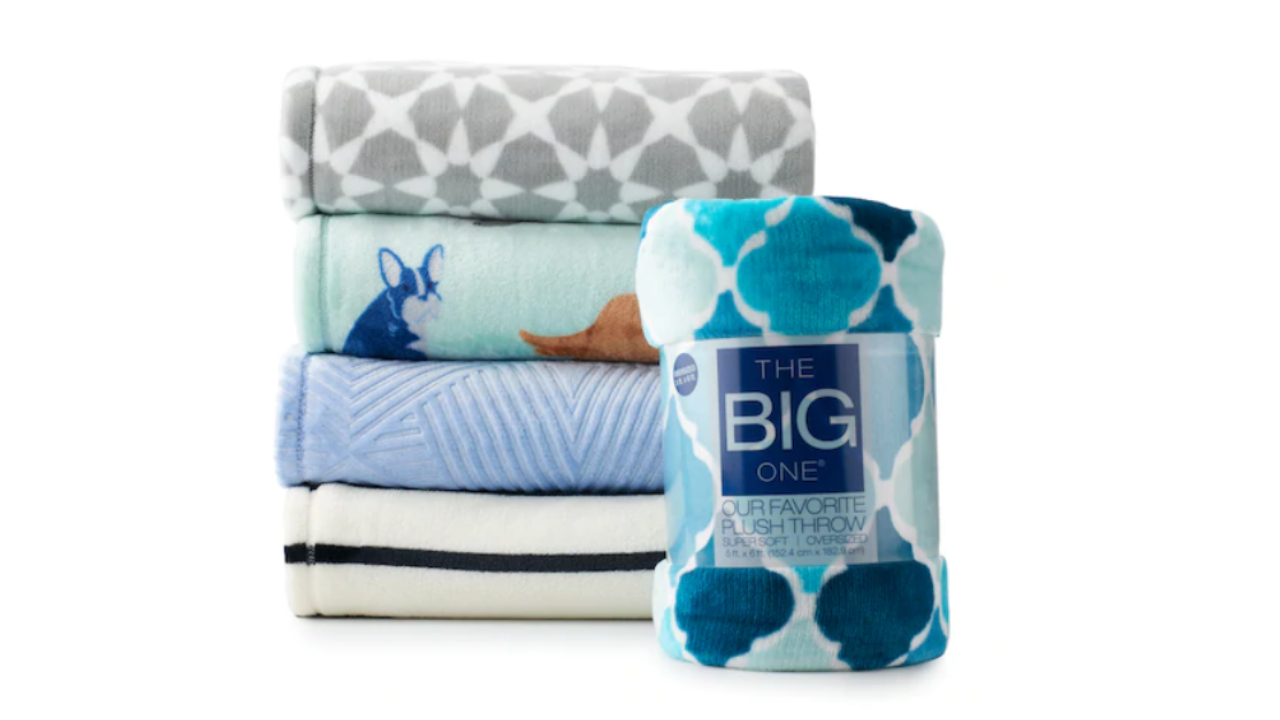 The Big One Supersoft Plush Throw for $15.99 (Reg. $39.99)!!